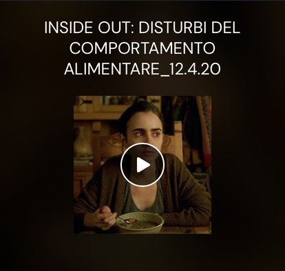 Inside Out- Disturbi del comportamento alimentare